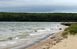 πρώιμο καλοκαίρι ακτών πρωινού λιμνών Στοκ Εικόνα