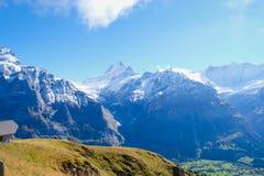 Πρώτα βουνά, Ελβετία Στοκ Φωτογραφίες