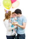 Πρώτα γενέθλια μωρών Στοκ φωτογραφίες με δικαίωμα ελεύθερης χρήσης