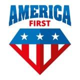 Πρώτα διανυσματικά λογότυπα της Αμερικής Στοκ φωτογραφία με δικαίωμα ελεύθερης χρήσης