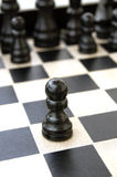 Πρώτα παιχνίδι σκακιού κίνησης στοκ φωτογραφία
