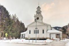 Πρώτη εκκλησιαστική εκκλησία - Woodstock, Βερμόντ Στοκ εικόνες με δικαίωμα ελεύθερης χρήσης