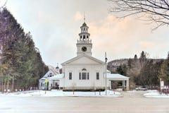 Πρώτη εκκλησιαστική εκκλησία - Woodstock, Βερμόντ Στοκ φωτογραφίες με δικαίωμα ελεύθερης χρήσης