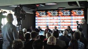 Πρώτη επίσημη Τύπος-διάσκεψη του διεθνούς φεστιβάλ ταινιών της 41$ης Μόσχας στοκ εικόνα