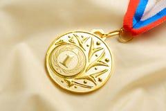 Πρώτη θέση μεταλλίων μετάλλων Στοκ Εικόνες