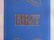 Πρώτη κορδέλλα θέσεων Στοκ φωτογραφία με δικαίωμα ελεύθερης χρήσης