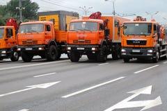 Πρώτη παρέλαση της Μόσχας της μεταφοράς πόλεων truck Στοκ Φωτογραφίες