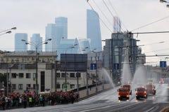 Πρώτη παρέλαση της Μόσχας της μεταφοράς πόλεων Στοκ Εικόνες