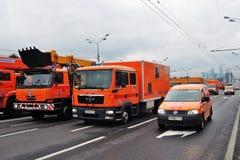 Πρώτη παρέλαση της Μόσχας της μεταφοράς πόλεων Στοκ εικόνα με δικαίωμα ελεύθερης χρήσης