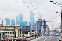Πρώτη παρέλαση της Μόσχας της μεταφοράς πόλεων Στοκ εικόνες με δικαίωμα ελεύθερης χρήσης