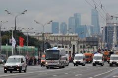 Πρώτη παρέλαση της Μόσχας της μεταφοράς πόλεων Στοκ φωτογραφία με δικαίωμα ελεύθερης χρήσης