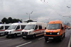 Πρώτη παρέλαση της Μόσχας της μεταφοράς πόλεων Στοκ Φωτογραφίες