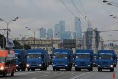 Πρώτη παρέλαση της Μόσχας της μεταφοράς πόλεων Στοκ φωτογραφίες με δικαίωμα ελεύθερης χρήσης