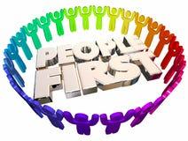 Πρώτη προτεραιότητα ανθρώπων που βάζει τη τοπ σημασία ελεύθερη απεικόνιση δικαιώματος