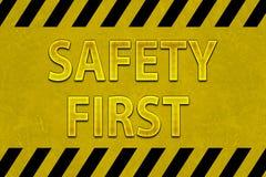 πρώτη σήμανση ασφάλειας Στοκ Εικόνες