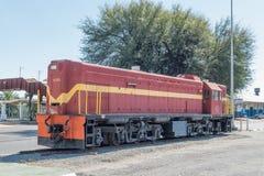 Πρώτη diesel-ηλεκτρική ατμομηχανή στη Ναμίμπια στην επίδειξη σε Windh στοκ εικόνες με δικαίωμα ελεύθερης χρήσης