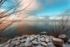 Πρώτος λεπτός πάγος Στοκ εικόνες με δικαίωμα ελεύθερης χρήσης