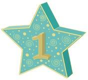 Πρώτο αστέρι εορτασμού θέσεων απεικόνιση αποθεμάτων