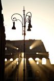 πρώτο ελαφρύ πρωί colosseum Στοκ εικόνα με δικαίωμα ελεύθερης χρήσης