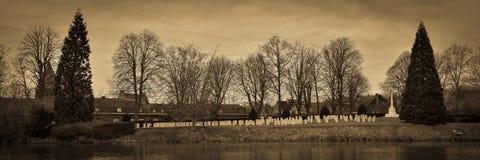 Πρώτο νεκροταφείο Ypres παγκόσμιου πολέμου Στοκ Εικόνες
