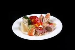 Πρώτο πιάτο σε ένα πιάτο, διάστημα αντιγράφων Στοκ εικόνα με δικαίωμα ελεύθερης χρήσης