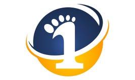 Πρώτο πρότυπο σχεδίου λογότυπων βημάτων διανυσματική απεικόνιση