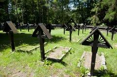 Πρώτο στρατιωτικό νεκροταφείο αριθ. παγκόσμιου πολέμου 60 - Πολωνία στοκ εικόνες