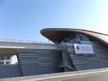 Πρώτο τερματικό μετρό τράπεζας Κόλπων στο Ντουμπάι, Ε.Α.Ε. Στοκ Φωτογραφίες