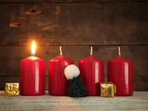 Πρώτο υπόβαθρο εμφάνισης, Χριστουγέννων ή εμφάνισης Στοκ Εικόνες
