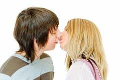 πρώτο φιλί Στοκ φωτογραφία με δικαίωμα ελεύθερης χρήσης