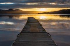 Πρώτο φως στη λίμνη Lomond Στοκ Εικόνες