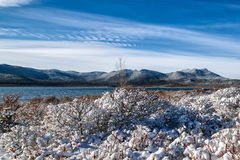 πρώτο χιόνι βουνών Στοκ Εικόνες