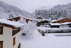 Πρώτο χιόνι σε Argentiere Στοκ Φωτογραφία
