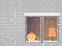πρώτο χιόνι διανυσματική απεικόνιση