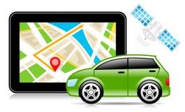 ΠΣΤ, σύστημα παγκόσμιας πλοήγησης, χάρτης πόλεων, ναυσιπλοΐα διανυσματική απεικόνιση