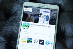 ΠΣΤ Sygic, χάρτες και ναυσιπλοΐα app Στοκ φωτογραφία με δικαίωμα ελεύθερης χρήσης