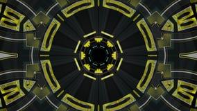 Πτήση έξω μέσω του kaleidoscopic αφηρημένου βρόχου υποβάθρου ζωτικότητας γραφικής παράστασης κινήσεων σηράγγων cyber φω'των νέου  απόθεμα βίντεο