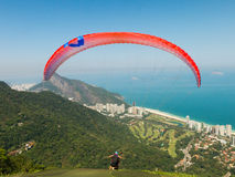 Πτήση ανεμόπτερων στο Ρίο ντε Τζανέιρο Στοκ φωτογραφίες με δικαίωμα ελεύθερης χρήσης