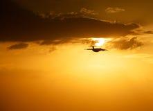 Πτήση βραδιού Στοκ φωτογραφία με δικαίωμα ελεύθερης χρήσης