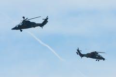 Πτήση επίδειξης του UHT τιγρών Eurocopter επιθετικών ελικοπτέρων Στοκ φωτογραφία με δικαίωμα ελεύθερης χρήσης