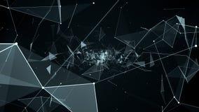 Πτήση ζωτικότητας στη γεωμετρική αφαίρεση, 4k βίντεο ελεύθερη απεικόνιση δικαιώματος