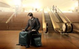 πτήση η αναμονή του Στοκ φωτογραφία με δικαίωμα ελεύθερης χρήσης