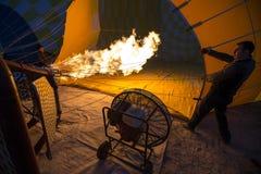 Πτήση μπαλονιών ζεστού αέρα σε Cappadocia, Τουρκία Στοκ φωτογραφίες με δικαίωμα ελεύθερης χρήσης