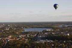 Πτήση μπαλονιών ζεστού αέρα Στοκ Εικόνες