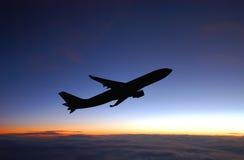 Πτήση νύχτας Στοκ φωτογραφίες με δικαίωμα ελεύθερης χρήσης