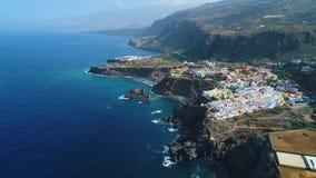 Πτήση πέρα από την ακτή Tenerife φιλμ μικρού μήκους