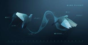 Πτήση πουλιών διανυσματική απεικόνιση