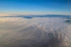 Πτήση στη Μαδέρα πέρα από την Ισπανία Στοκ Εικόνα