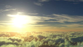 Πτήση στον ήλιο διανυσματική απεικόνιση