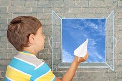 Πτήση της φαντασίας Στοκ Εικόνες
